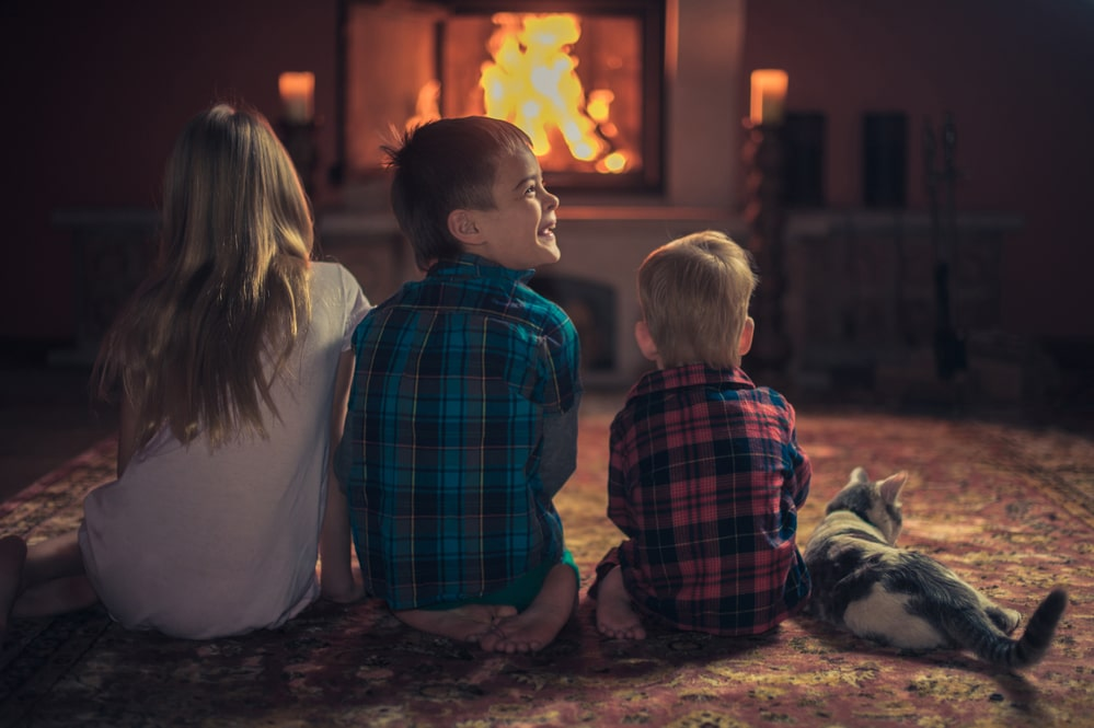 electric fires are safer for children and pets