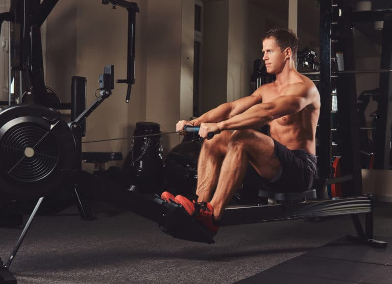 what muscles does rowing work