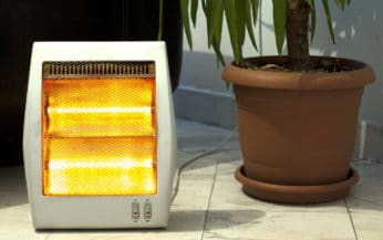 Infrared heater outdoors