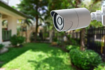 security camera used outdoors