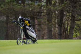 a caddy on the course