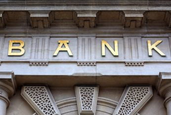 bank sign on a financial building