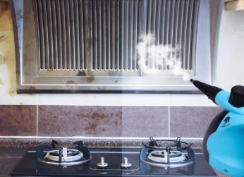cleaning a kitchen air vent
